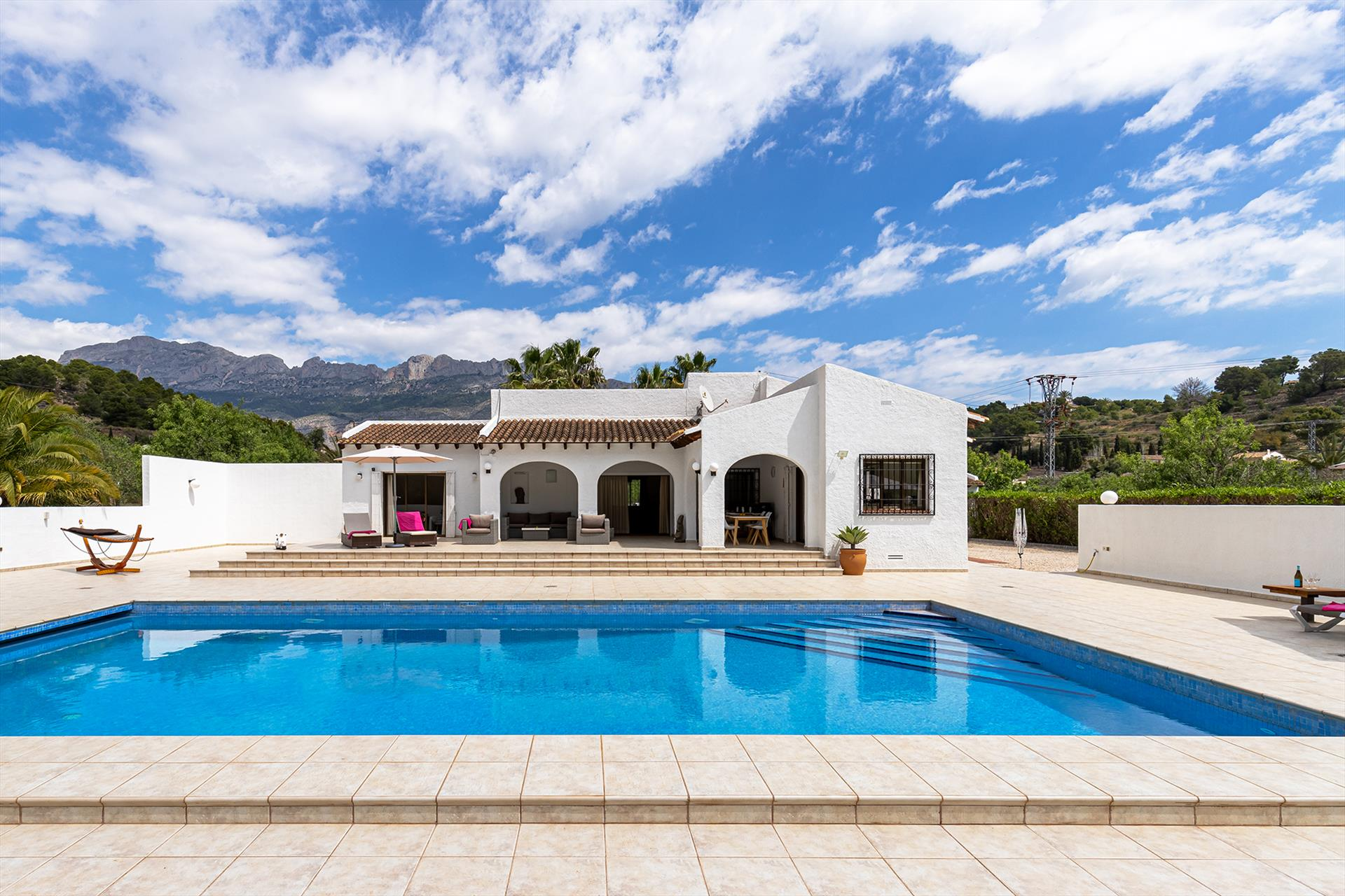 Finca Nora, Rustic and comfortable villa in Altea, on the Costa Blanca, Spain  with private pool for 6 persons.....