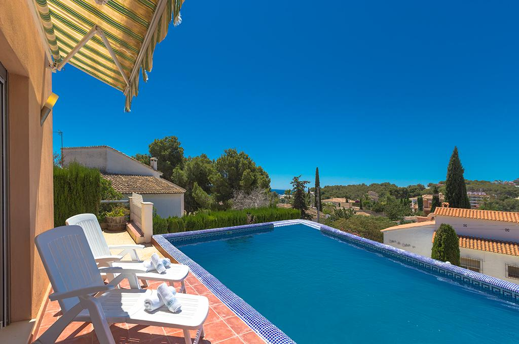 Sierra 7, Beautiful and comfortable villa  with private pool in Teulada, on the Costa Blanca, Spain for 7 persons...