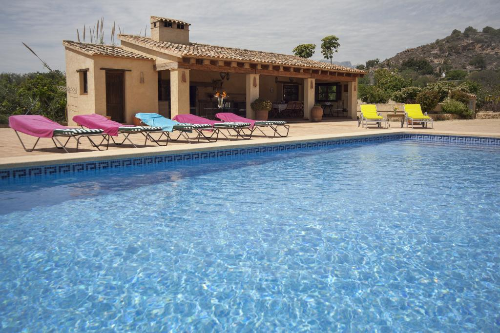 Finca Rustica,Rustic and romantic holiday home  with private pool in Altea, on the Costa Blanca, Spain for 12 persons.....