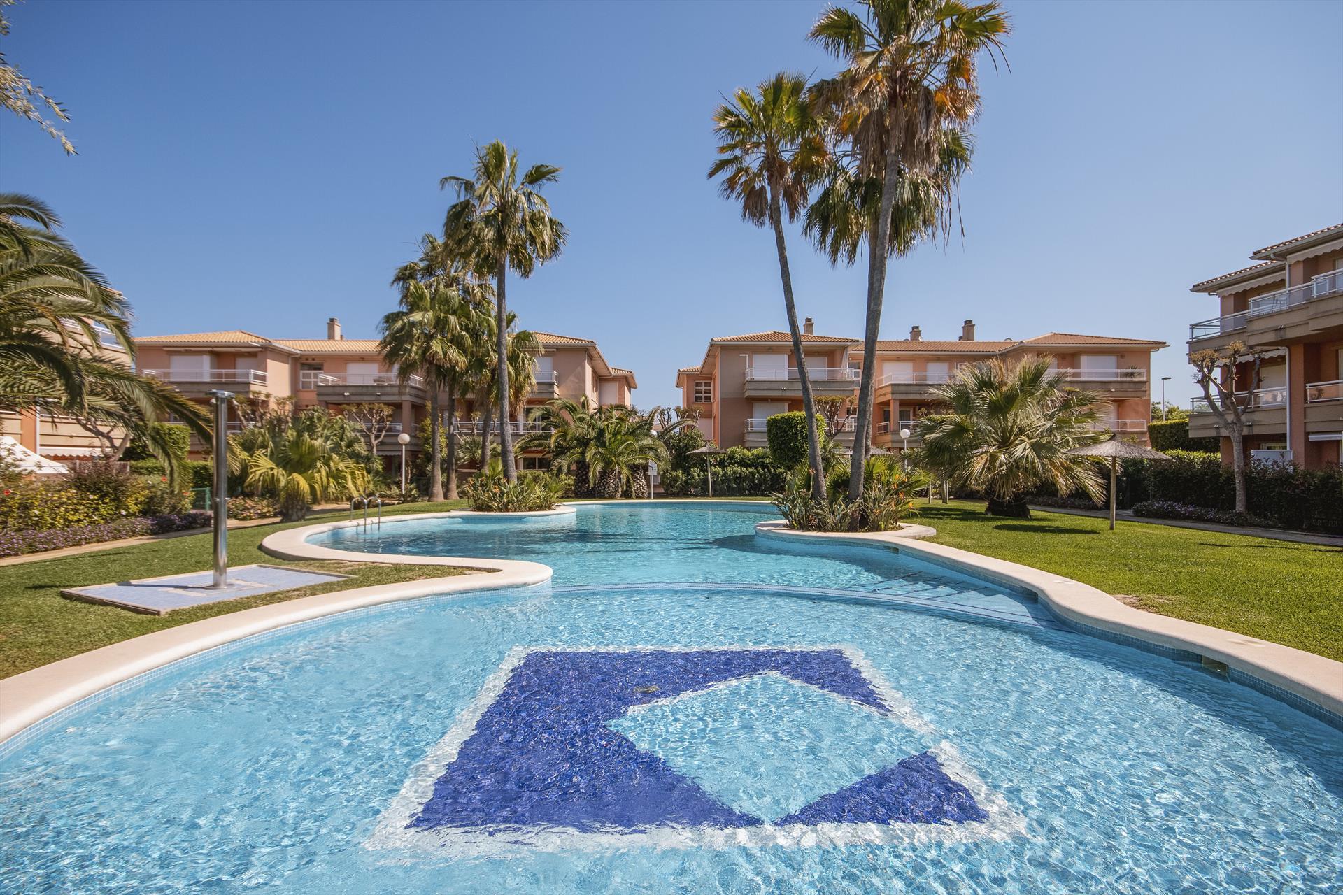 La Senia,Apartamento clásico y confortable en Javea, en la Costa Blanca, España  con piscina comunitaria para 4 personas...