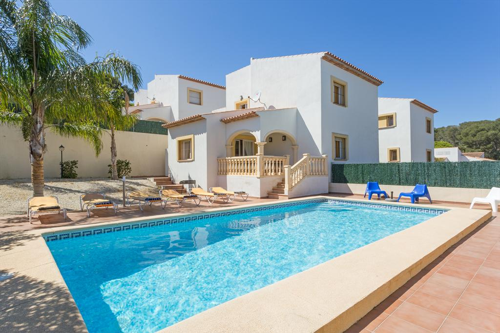 Monte Malva, Classic and nice holiday home in Javea, on the Costa Blanca, Spain  with private pool for 6 persons...