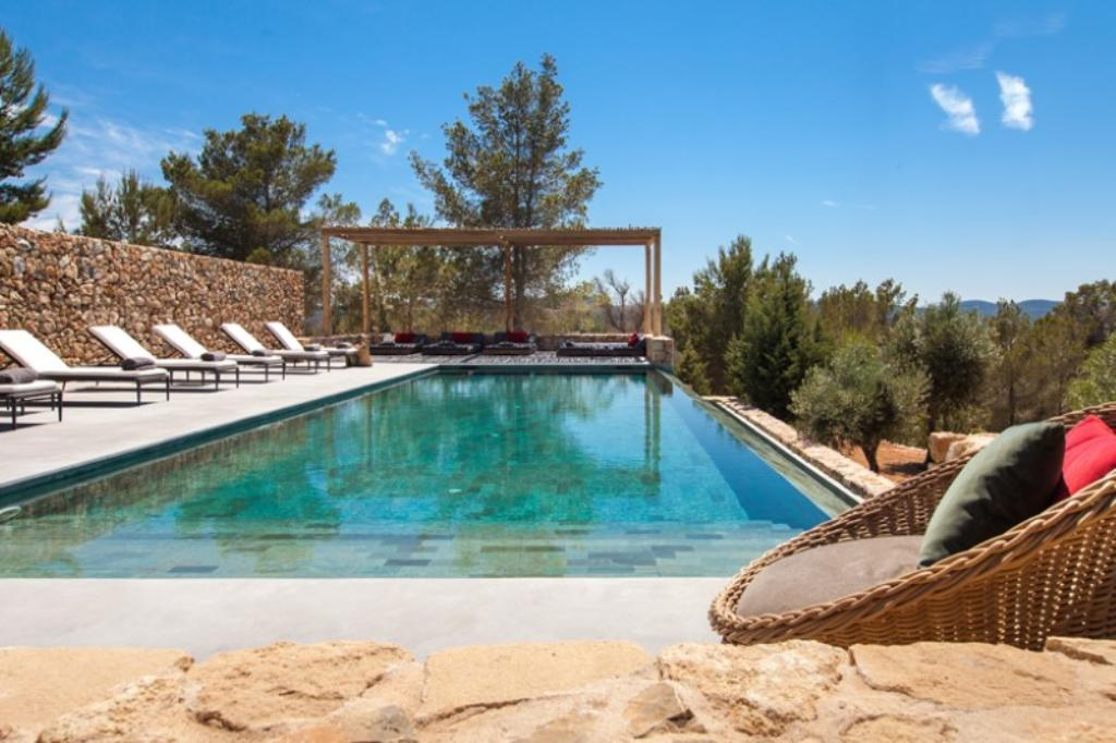 820, Wonderful and luxury villa  with private pool in Benirras, Ibiza, Spain for 12 persons...