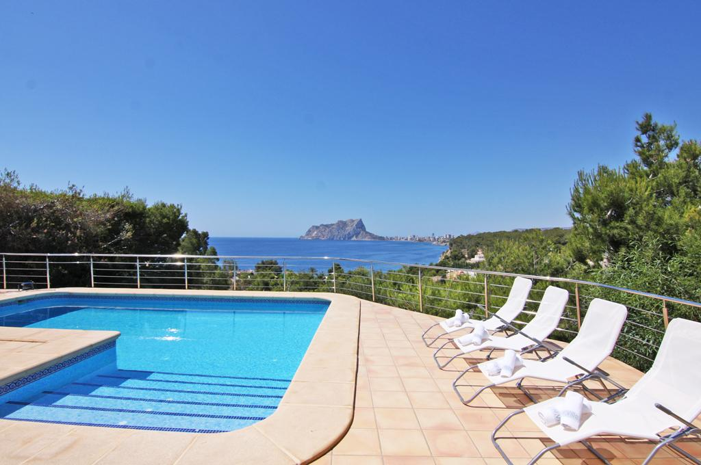 Arc 8,Beautiful and cheerful villa in Benissa, on the Costa Blanca, Spain  with private pool for 8 persons...