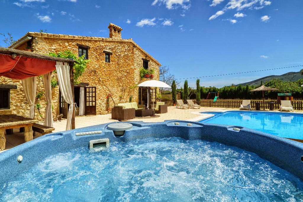 LA FINCA BELLA s, Beautiful and romantic villa  with private pool in Denia, on the Costa Blanca, Spain for 8 persons.....