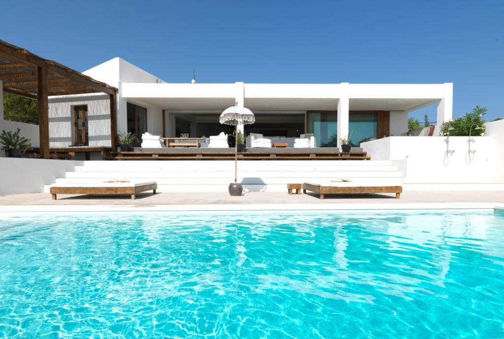 870,Beautiful and comfortable villa  with private pool in Talamanca, Ibiza, Spain for 10 persons...