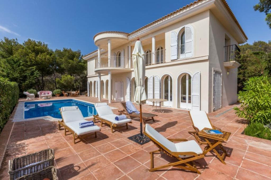 342, Villa in Cala Tarida, Ibiza, Spain  with private pool for 4 persons...