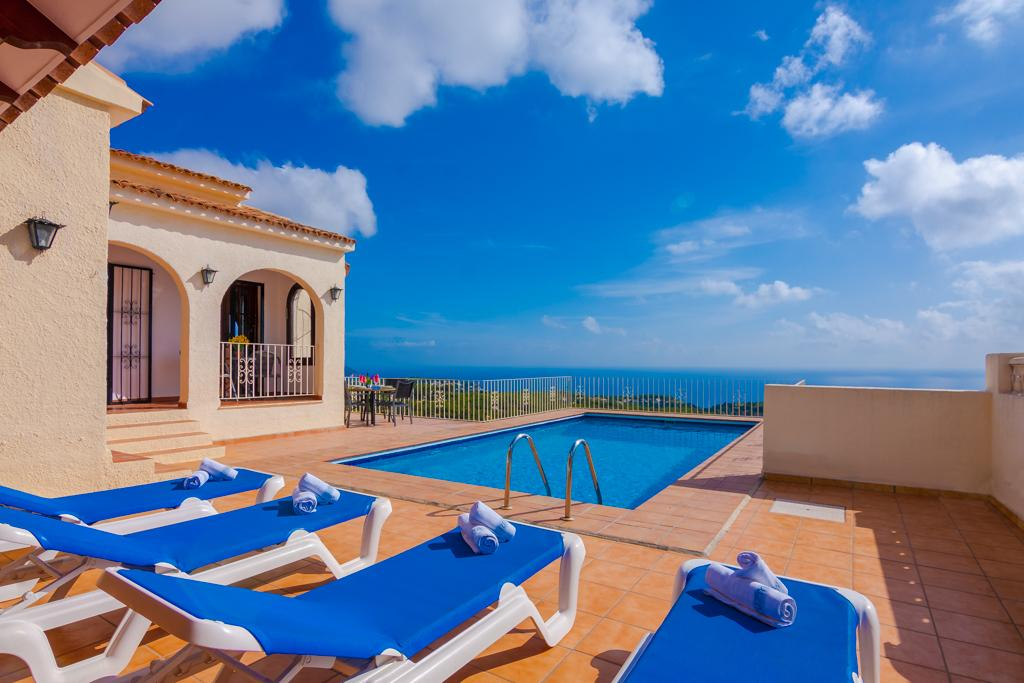 Luc 6, Villa in Benissa, on the Costa Blanca, Spain  with private pool for 6 persons.....