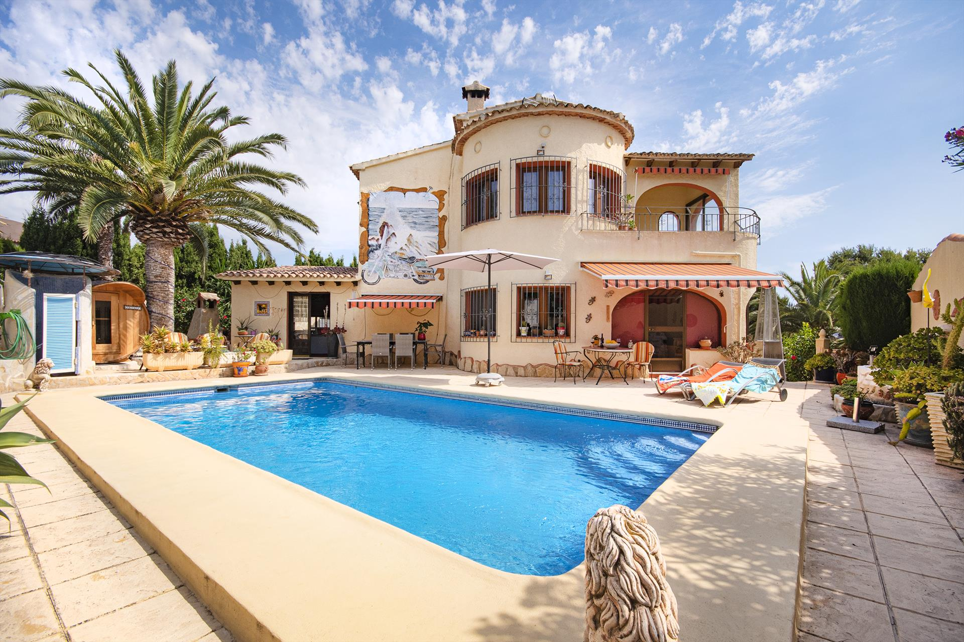 Lu, villa with pool for 4 personsfriendly furnished house with view protected pool area   location: in the urbanisation.....
