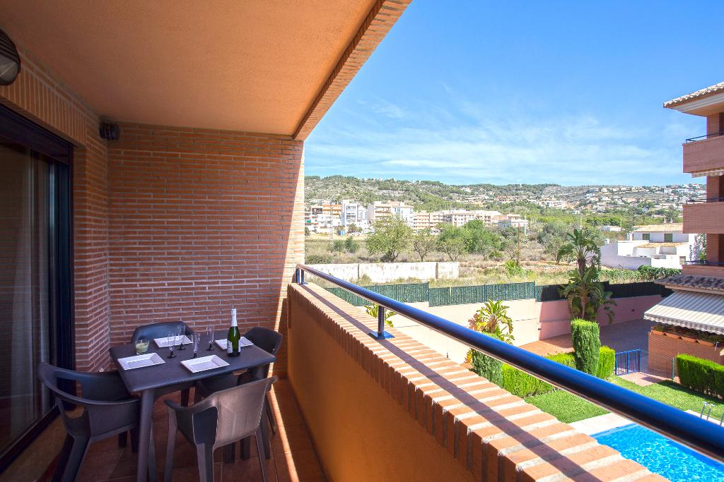 Jardines del Pueblo 2pax, Beautiful and comfortable apartment  with communal pool in Javea, on the Costa Blanca, Spain for 2 persons.....