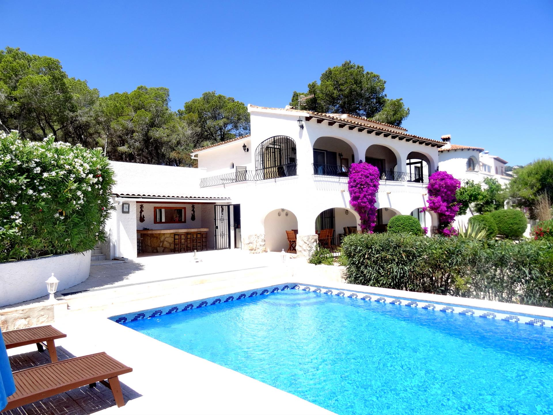 Margareta, Wonderful villa in Moraira, on the Costa Blanca, Spain  with private pool for 2 persons.....
