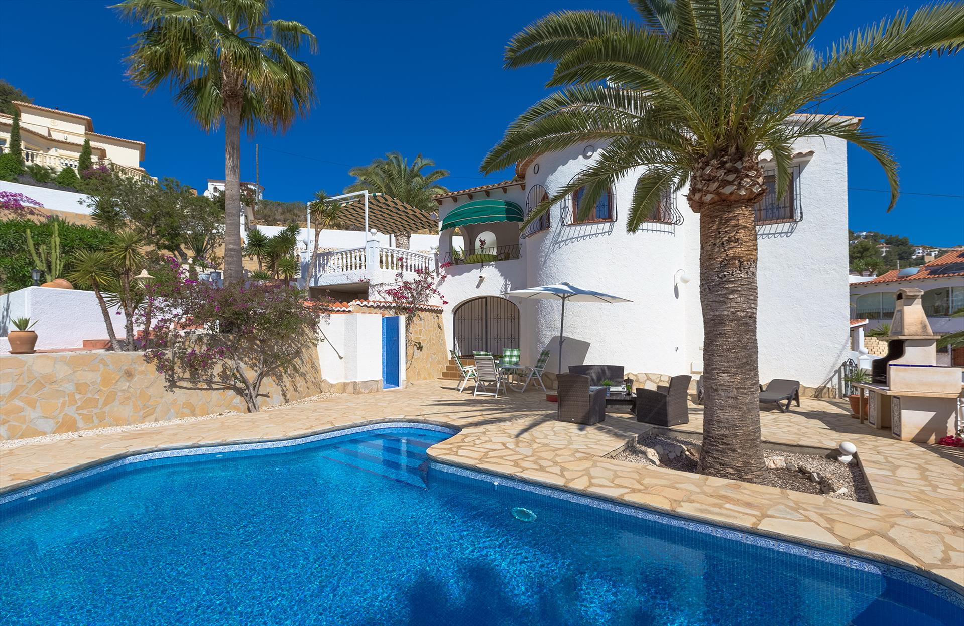 Ritter, Villa in Benissa, on the Costa Blanca, Spain  with private pool for 6 persons.....