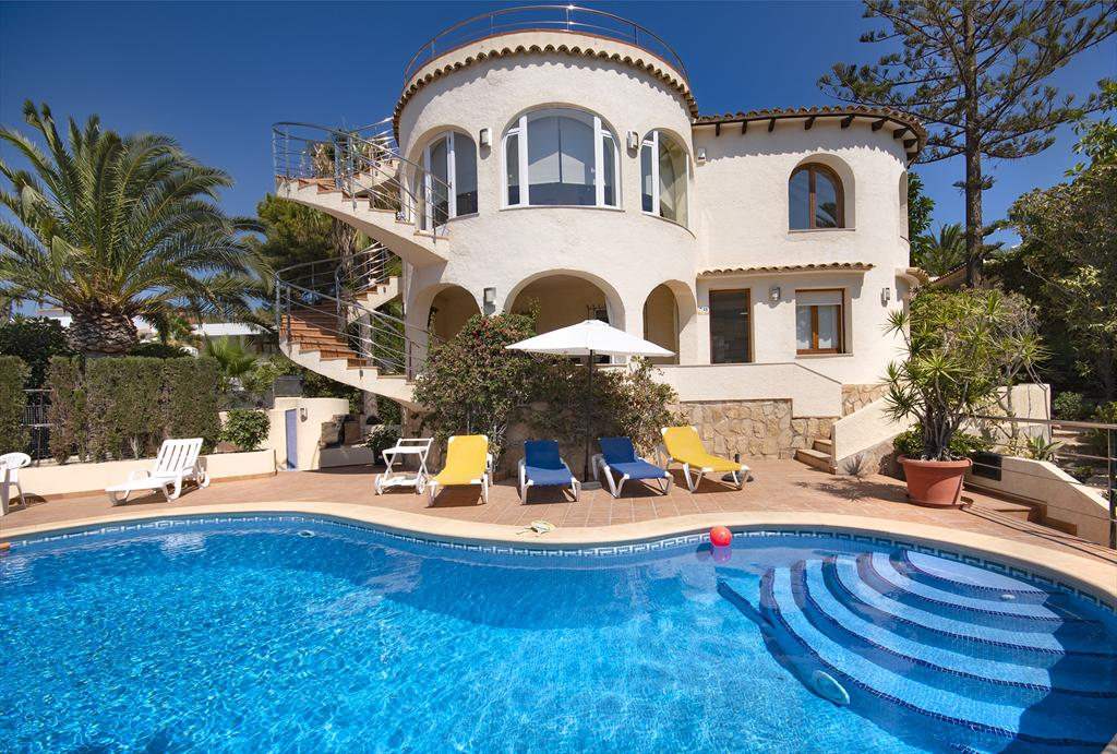 Erika, Villa  with private pool in Moraira, on the Costa Blanca, Spain for 8 persons.....
