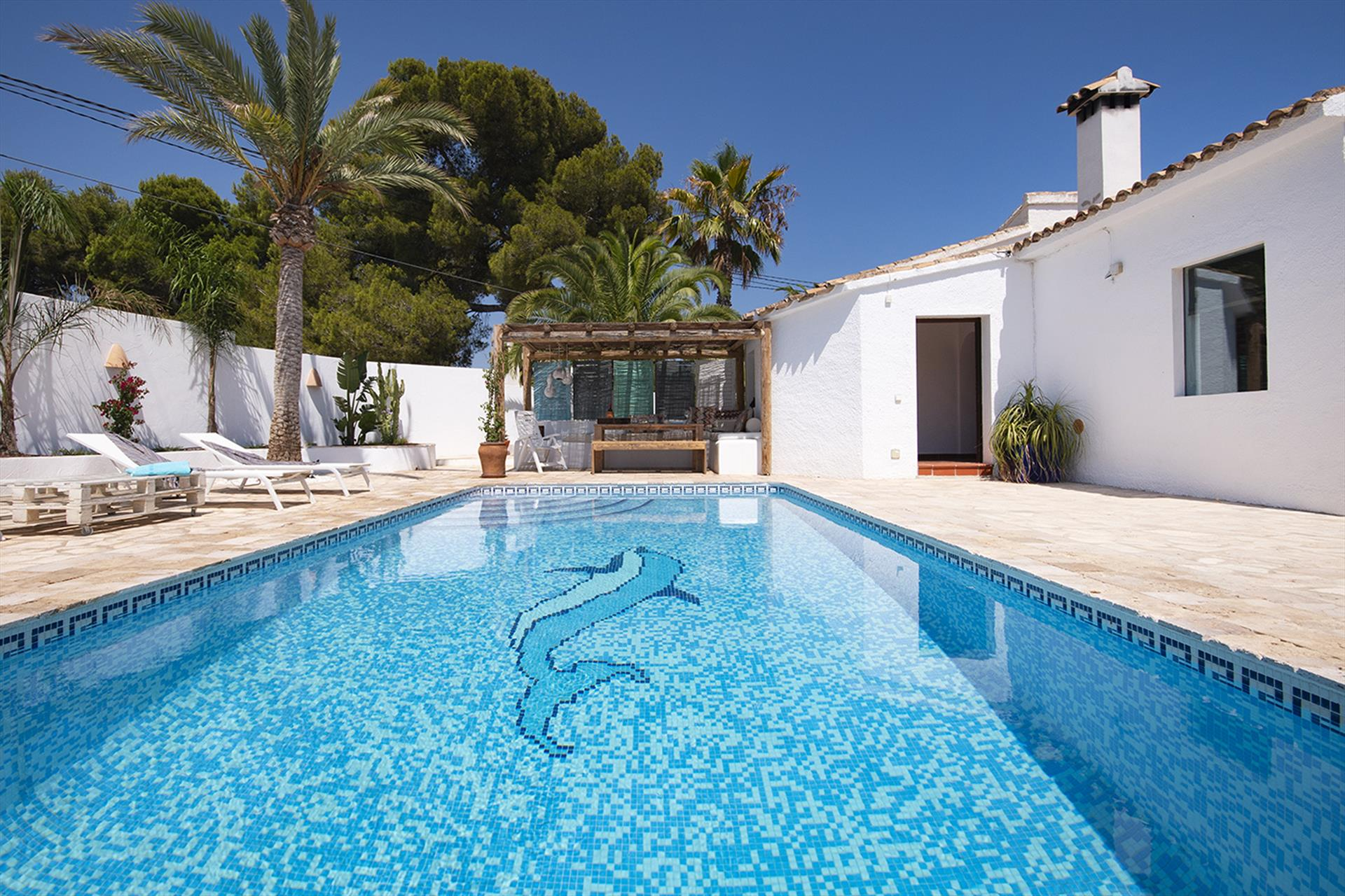 Lagarta, Wonderful and cheerful villa in Moraira, on the Costa Blanca, Spain  with private pool for 6 persons.....
