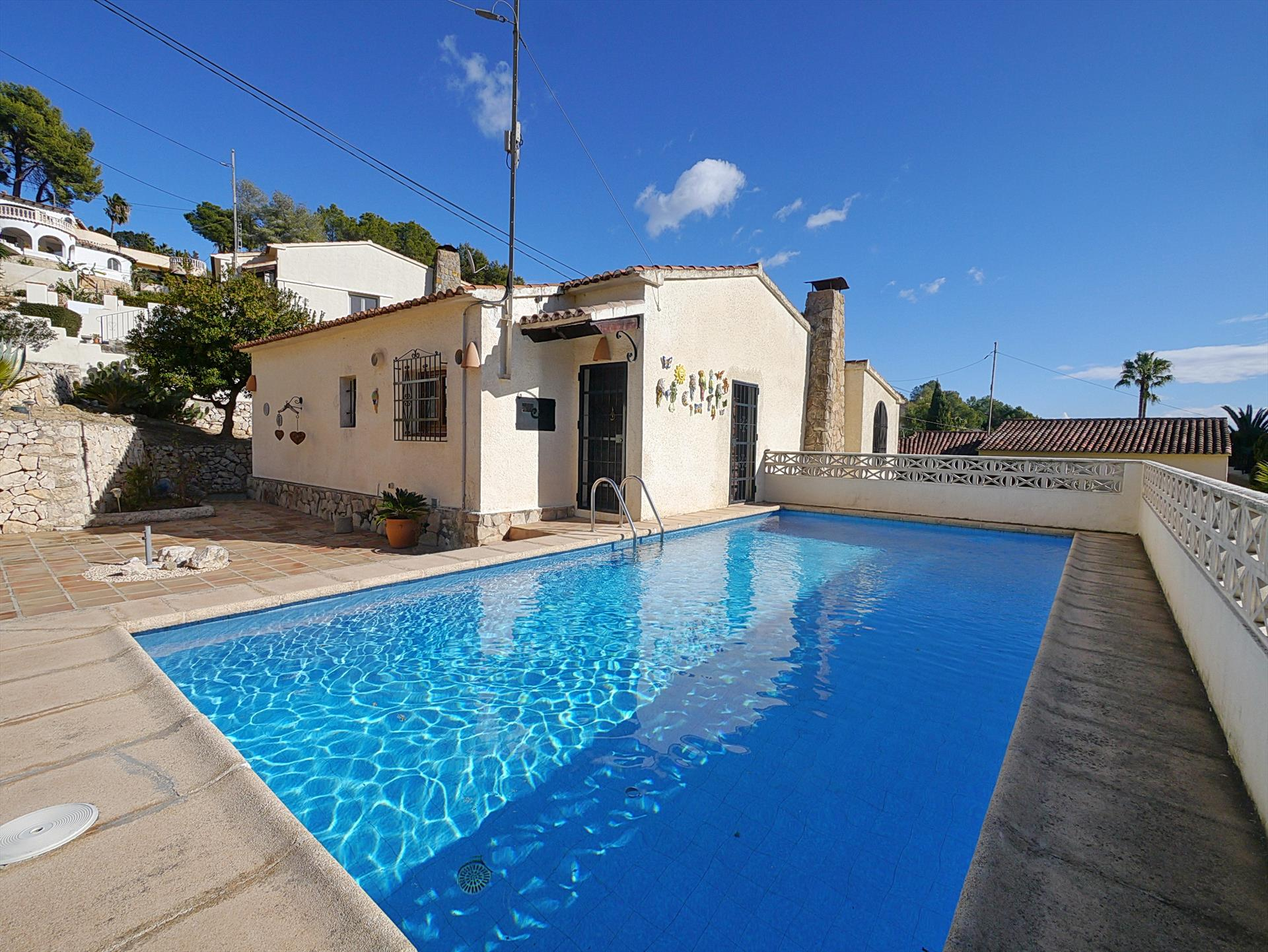 El Refugio, Classic and romantic villa  with private pool in Benissa, on the Costa Blanca, Spain for 6 persons.....