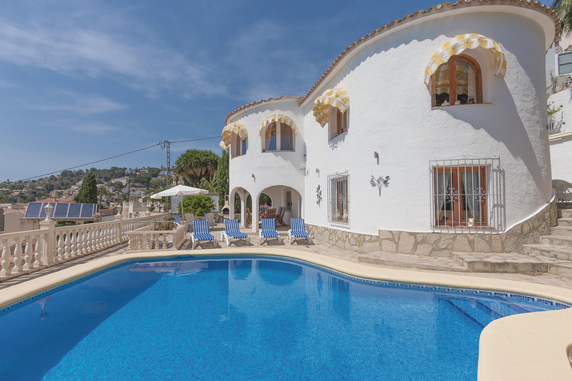 Bellavista 6P, Classic and comfortable villa in Benissa, on the Costa Blanca, Spain  with private pool for 6 persons.....