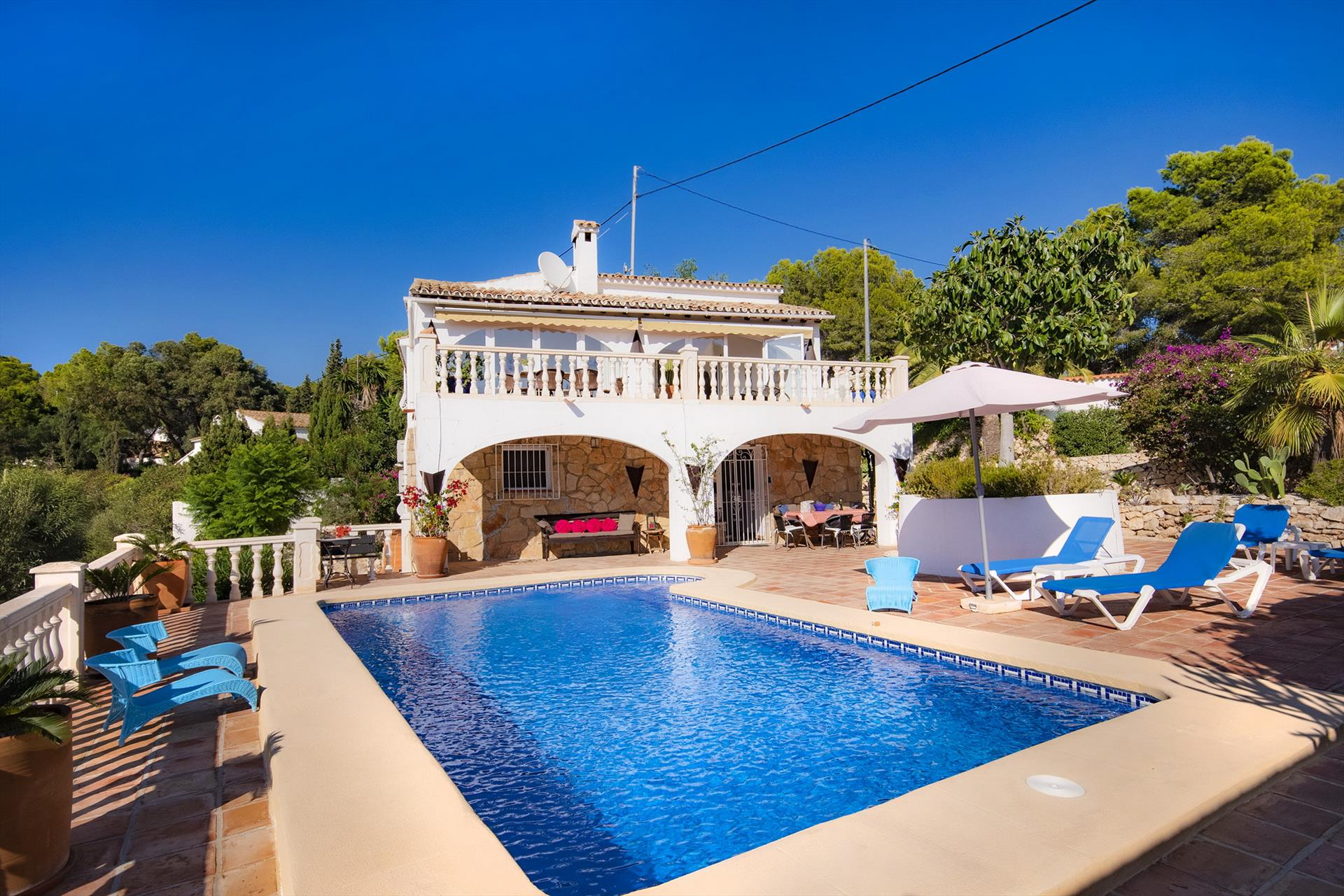 La Llobella, Rustic and comfortable villa  with private pool in Benissa, on the Costa Blanca, Spain for 4 persons.....