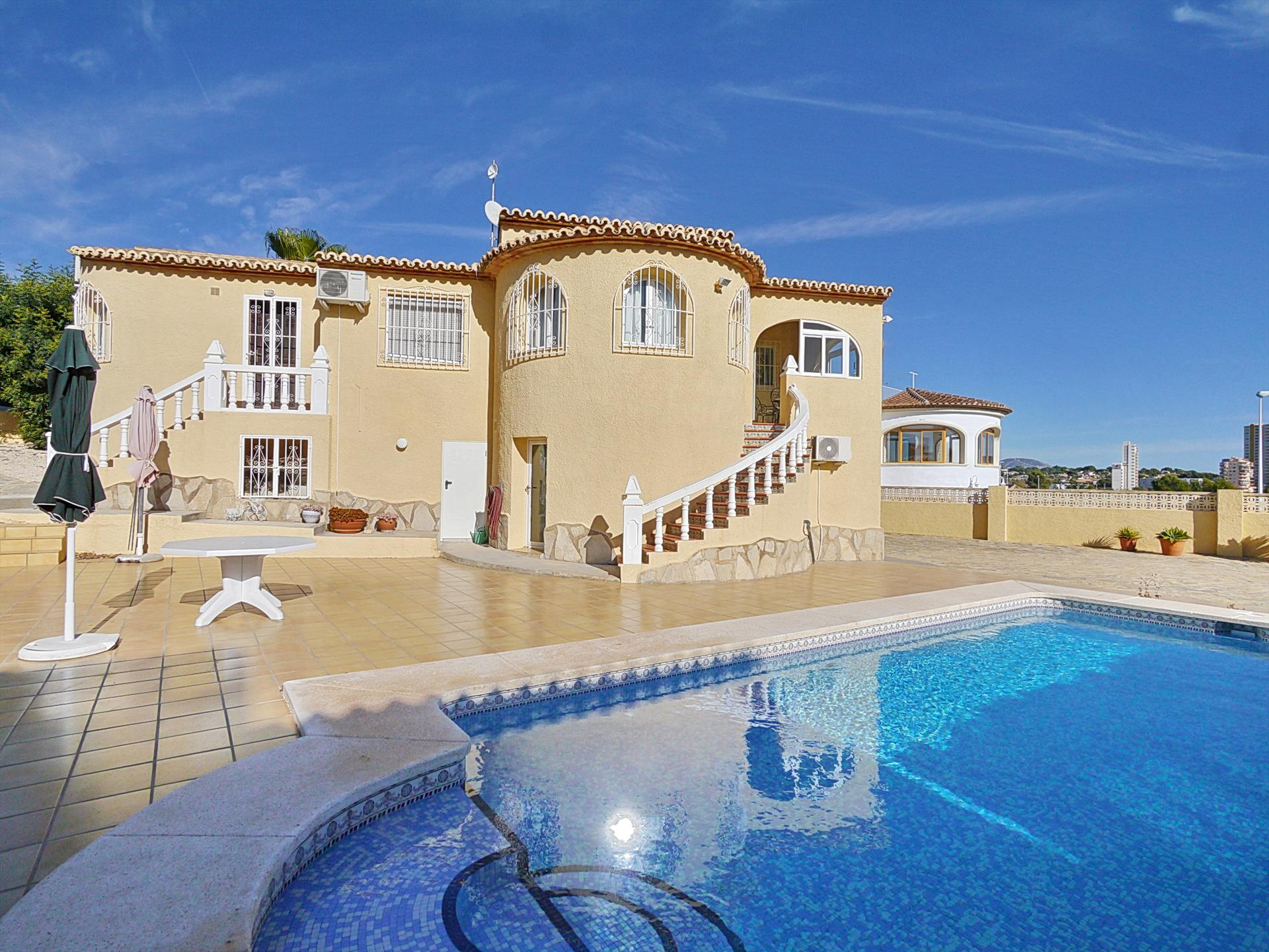 Salinas II, Large and classic villa  with private pool in Calpe, on the Costa Blanca, Spain for 6 persons.....