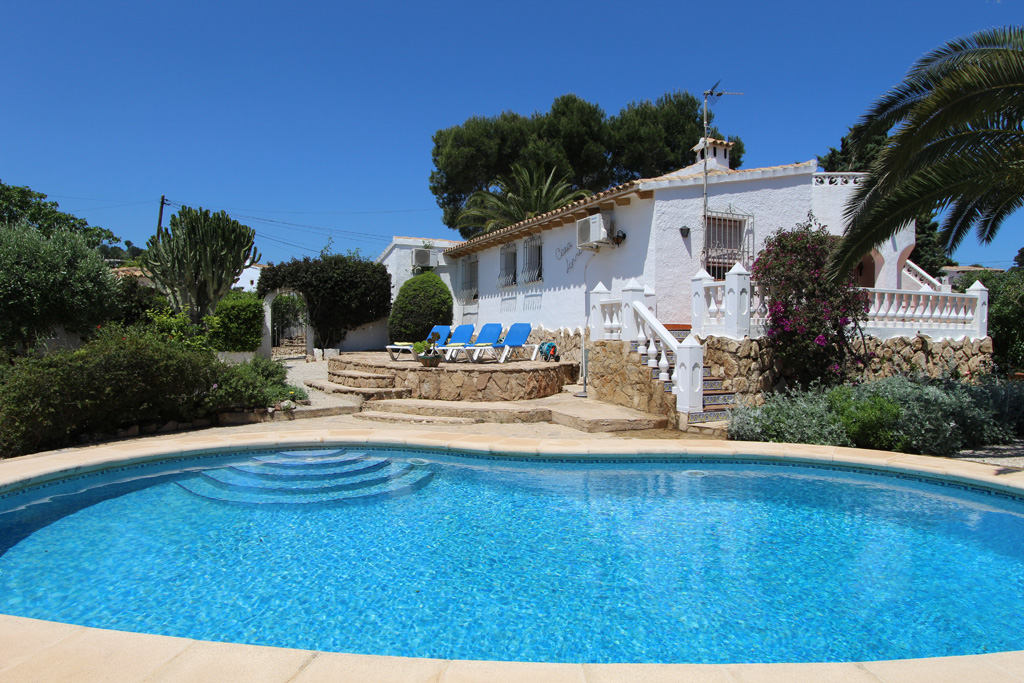 Lorna, Classic villa in Moraira, on the Costa Blanca, Spain  with private pool for 6 persons.....
