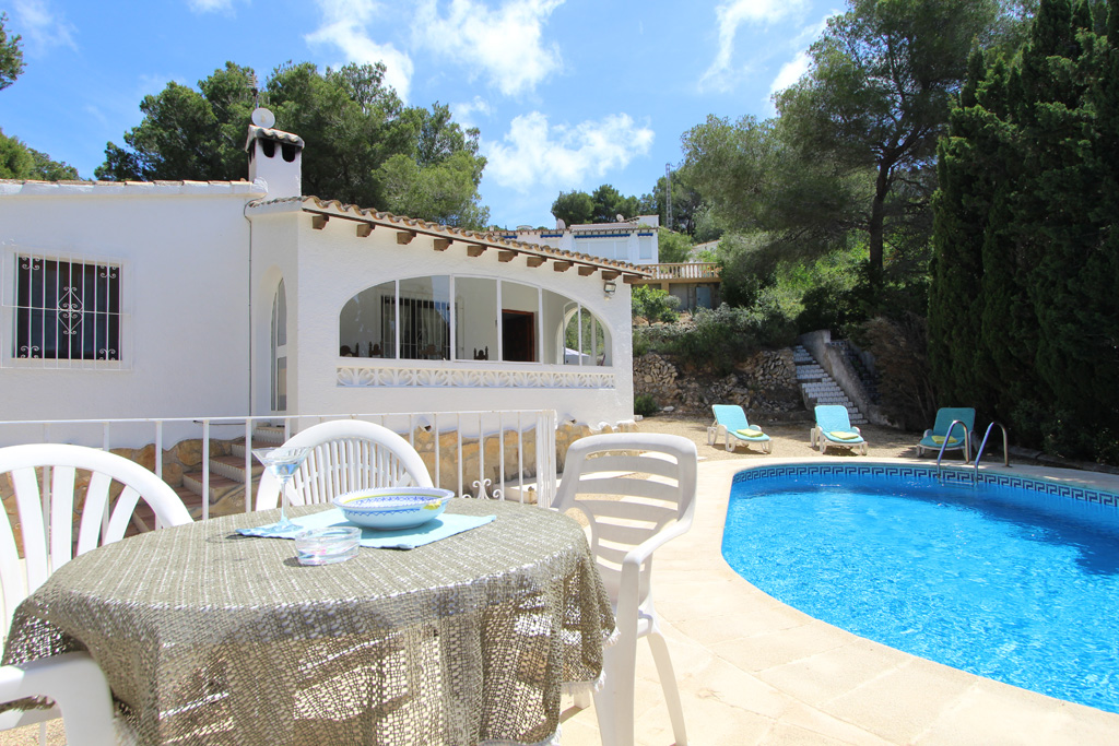 Tegel, Rustic and classic villa  with private pool in Moraira, on the Costa Blanca, Spain for 4 persons.....