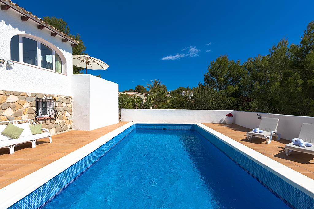 Milou 6, Beautiful and comfortable villa  with private pool in Benissa, on the Costa Blanca, Spain for 6 persons.....