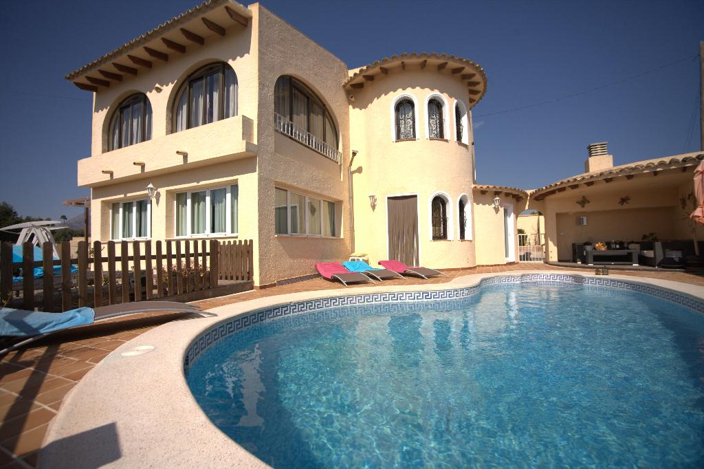 Alteana San Roque, Grosse und komfortable Villa in Altea, an der Costa Blanca, Spanien  mit privatem Pool für 10 Personen.....