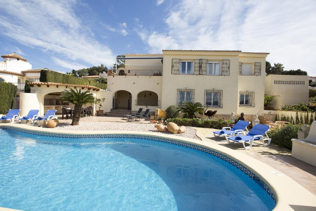 Casa Stella, Large and comfortable villa  with private pool in Javea, on the Costa Blanca, Spain for 8 persons.....