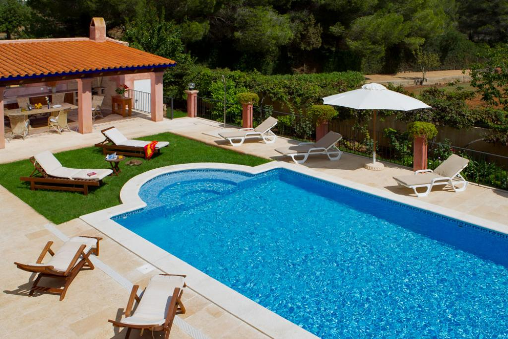 349, Large and comfortable villa  with private pool in San Carlos, Ibiza, Spain for 10 persons...
