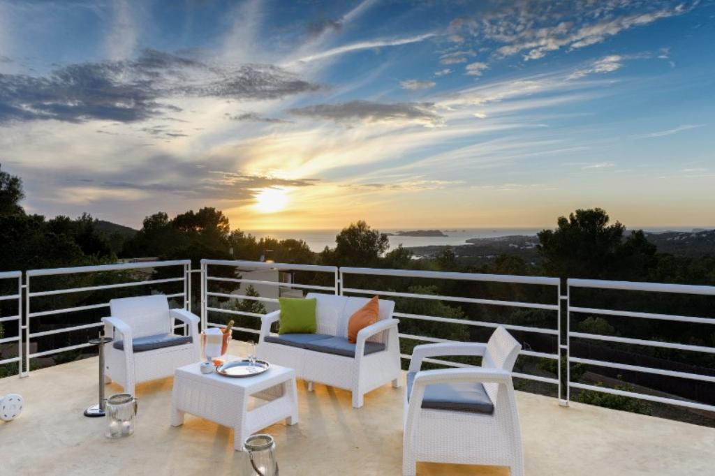 947, Villa in Cala Tarida, Ibiza, Spain  with private pool for 10 persons...
