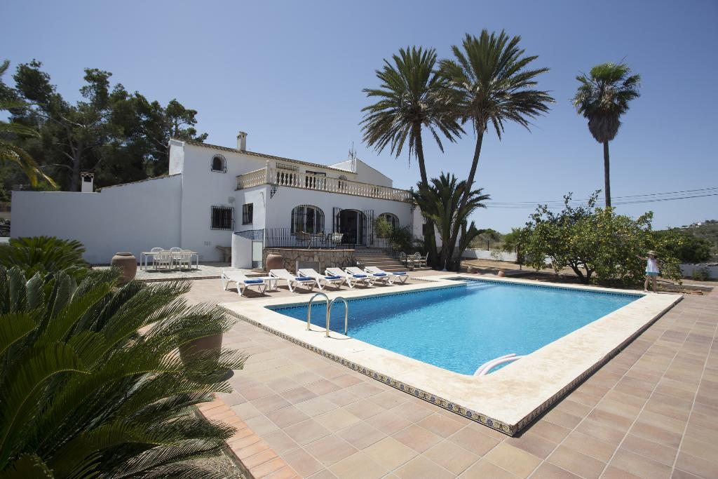 Casa Marques, Rustic and romantic villa in Javea, on the Costa Blanca, Spain  with private pool for 12 persons...