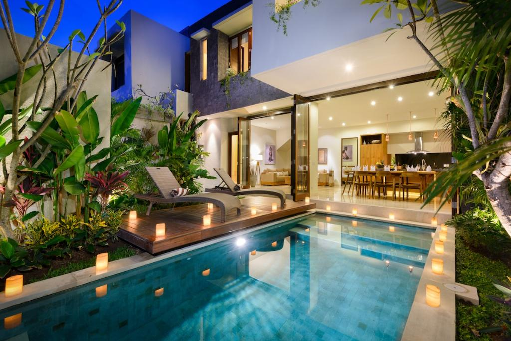 2 holiday homes in legian indonesia for Pool design bali