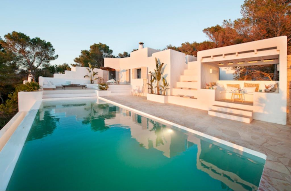 318 8p, Villa in Cala Vadella, Ibiza, Spain  with private pool for 8 persons...