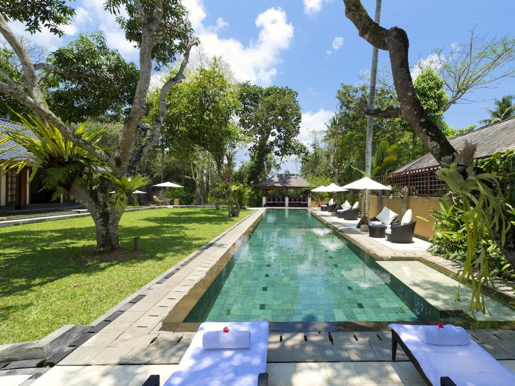 San 4BR, Large and luxury villa  with private pool in Ubud, Bali, Indonesia for 8 persons...