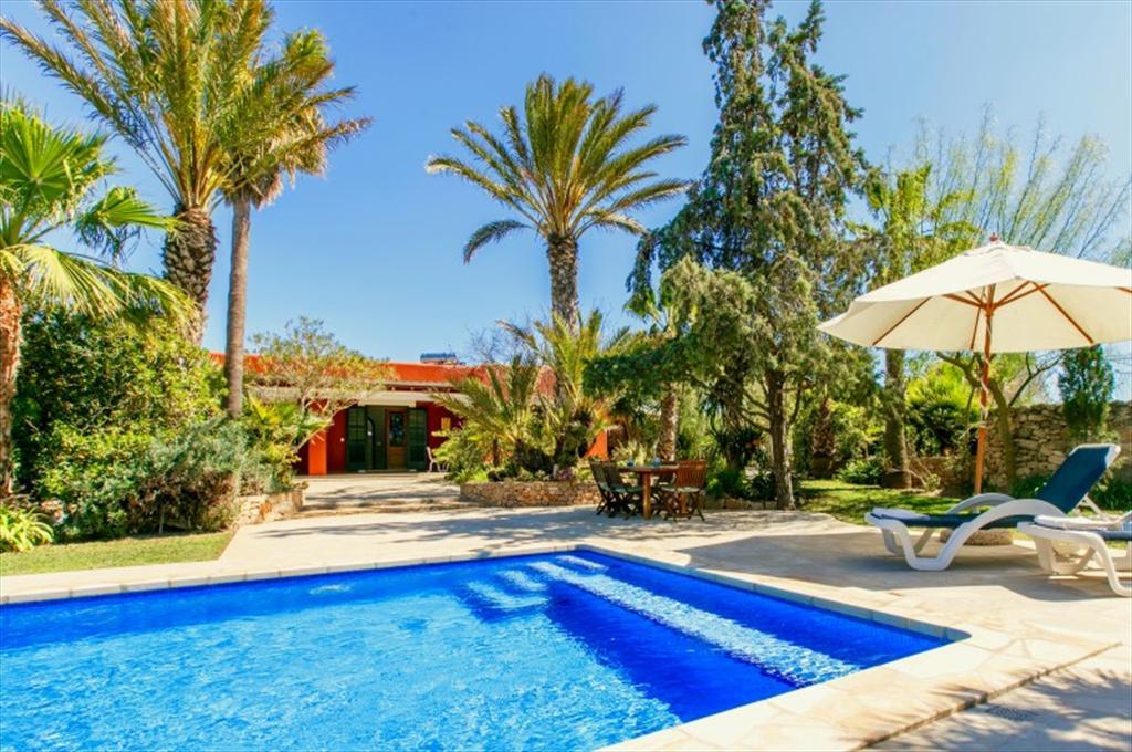 355,Belle villa comfortable  avec piscine privée à San Jose, Ibiza, Espagne pour 6 personnes...