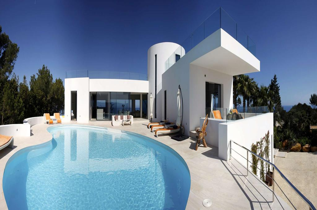 Bright blues, Large and luxury villa in San Miguel, Ibiza, Spain  with private pool for 10 persons...